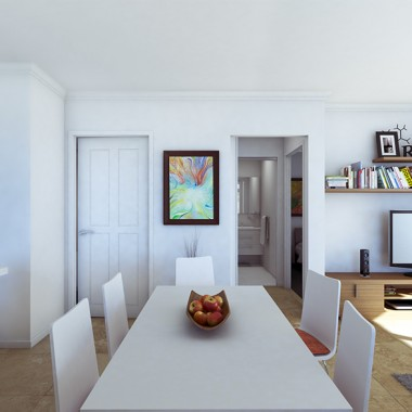 Edward Street Apartment #1 Dining Room 3D Interior Rendering # 2 | Virtual Tour