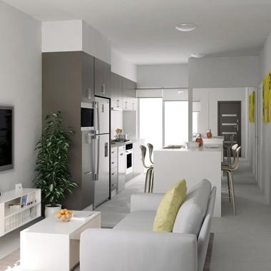 Henry Street Living Room 3D Interior Rendering | Virtual Tour