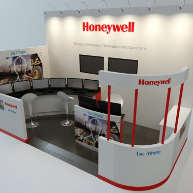 Honeywell Booths 3D Rendering