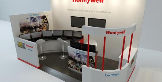 Honeywell Booths 3D Rendering