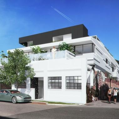 Lindsay Street Apartment 3D Exterior Rendering #2   Virtual Tour