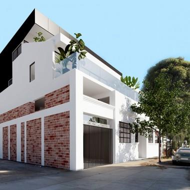 Lindsay Street Apartment 3D Exterior Rendering #3 | Virtual Tour