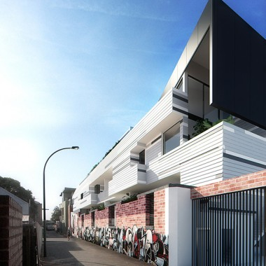 Lindsay Street Apartments 3D Exterior Rendering |Sideview| 3D Virtual Tour Photography