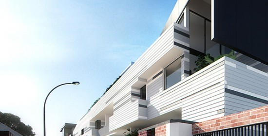 Lindsay Street Apartments 3D Exterior Rendering  Sideview  3D Virtual Tour Photography