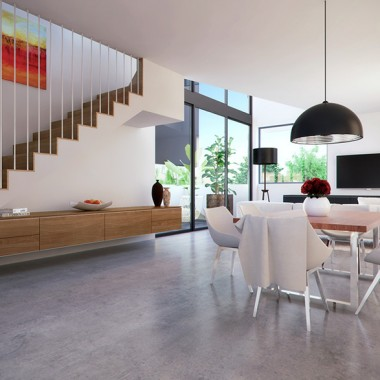 Lindsay Street Apartment Living Room 3D Interior Rendering #3   Virtual Tour