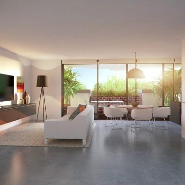 Lindsay Street Apartment Living Room 3D Interior Rendering #6   Virtual Tour