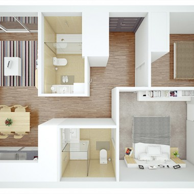 Nemagold Rise Apartment 3D Floor Plan Rendering