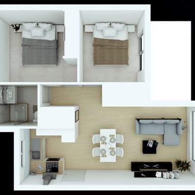 Spencer Road Apartment 3D Floor Plan Rendering