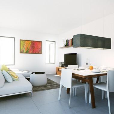 Fitzroy Street Apartment #1 3D Interior Rendering #1 | Virtual Tour