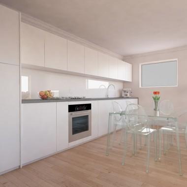 Gild Street Apartment Dining Room 3D Interior Rendering | Virtual Tour