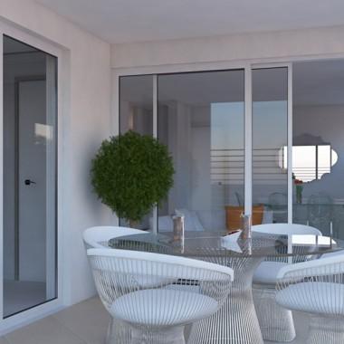 Gild Street Apartment Porch 3D Interior Rendering | Virtual Tour