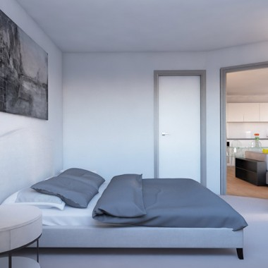 Gild Street Apartment Bedroom 3D Interior Rendering | Virtual Tour