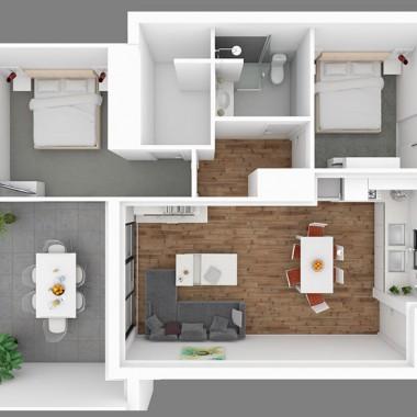 Fitzroy Street 3d Floor Plan Rendering #2